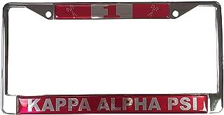 Desert Cactus Kappa Alpha Psi Line Number # Metal License Plate Frame for Front Back of Car (#1 License Plate Frame)