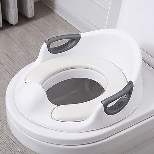 Réducteur de Toilette Rehausseur WC Enfant Siège d'entraînement de Toilette Pot Taille Bébé Anneau de toilette pour E...