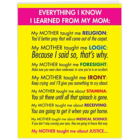 Funny Mother/'s Day Card You/'re my Favorite Mom Greeting Card Geekery Favorite Mum Kraft Envelope Birthday Card English Gifts Gag Gift