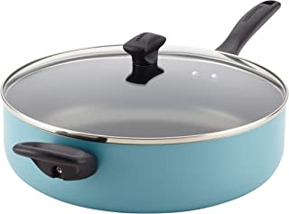 Farberware Dishwasher Safe Nonstick Jumbo Cooker/Saute Pan with Helper Handle - 6 Quart, Blue