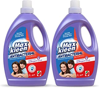 Maxkleen 3L Twin Pack AntiBacterial Concentrated Liquid Detergent with 2in 1 Softergent Formula – For Daily Wear