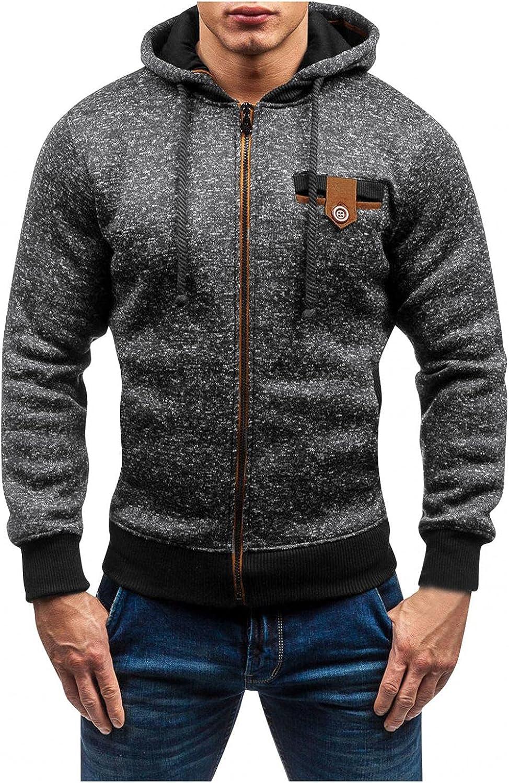 Hoodies for Men Mens Autumn Gray Slim Casual Hooded Patchwork Long Sleeve Sweatshirts Top Blouse Fashion Hoodies Sweatshirts