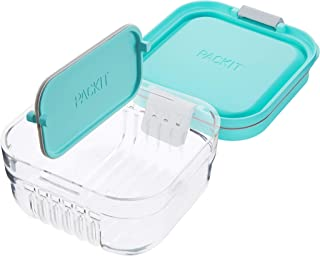 PackIt Mod Snack Bento Food Storage Container, Mint Green