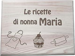 Regalo nonna originale Cassetta Contenitore PORTA RICETTE in legno personalizzabile con nome