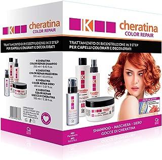 K-Cheratina Kit Color Repair - Trattamento Professionale Capelli Colorati e Decolorati - Contiene lo Shampoo Ricostruzion...