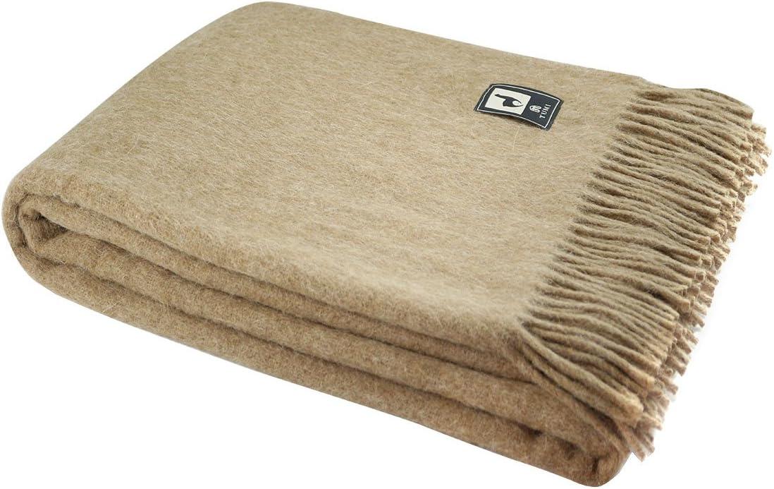 Selling and selling Superfine Natural Alpaca Yarn Merino Fringe Woven Wool trend rank Blanket