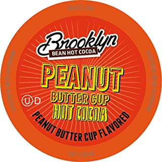 Brooklyn Beans Peanut Butter Chocolate Hot Cocoa Pods, Compatible with 2.0 K-Cup Brewers, 40 Count