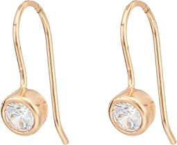 SHASHI - Solitaire French Hook Earrings