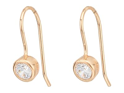 SHASHI Solitaire French Hook Earrings (Rose Gold) Earring