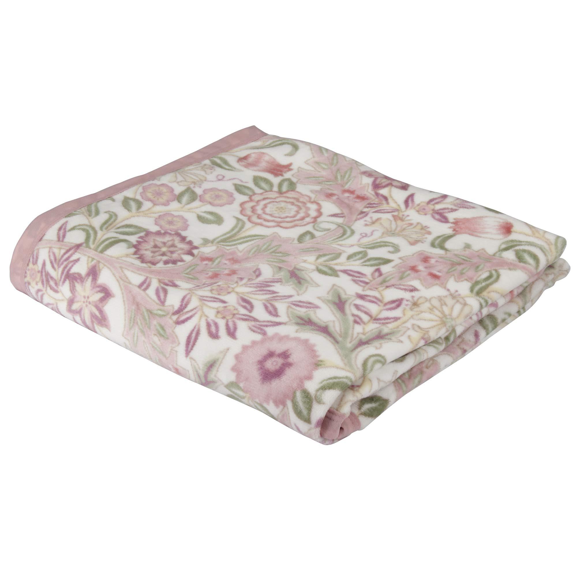 東京 西川 綿 毛布 シングル モリスギャラリー ウィルヘルミナ 綿100% 日本製 通年 ピンク FQ00601007P