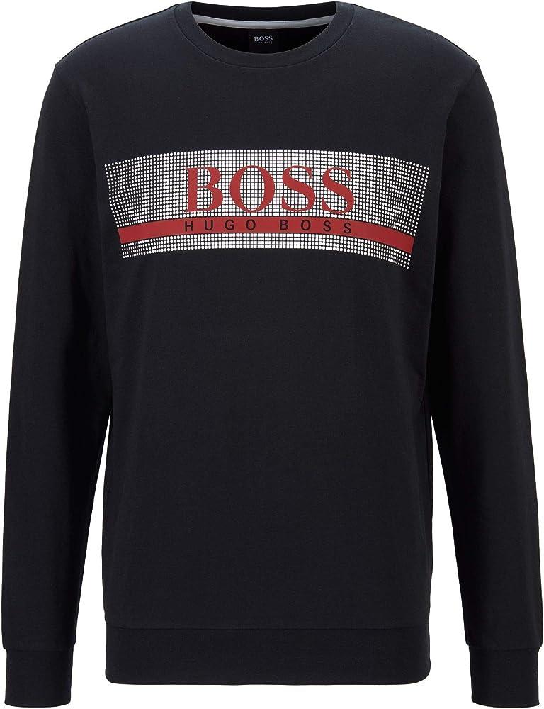 Boss authentic sweatshirt,felpa,maglione per uomo,100% cotone 50449939