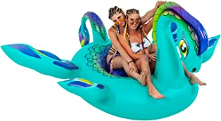 TCP Global Sundaze Floats Nessie Giant 8 Foot Inflatable Sea Monster Pool Float - Fun Kids Swim Party Toy - Summer Lounge Raft
