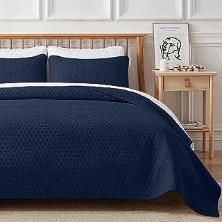 VEEYOO - Juego de colcha para cama individual, microfibra suave y ligera para todas las estaciones, juego de colcha indivi...