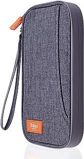 Yakia パスポートケース スキミング防止 パスポートバッグ 通帳ケース 2WAY 首下げ 防水ファスナー設計 旅行グッズ 海外 出張 航空券対応 軽量 スマホ収納可 貴重品入れ トラベルポーチ