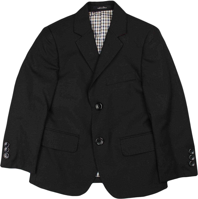 T.O. Collection Boys Blazer Sports Suit Jacket (Slim, Regular, Husky Fits) - Black, 14 Slim