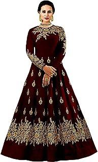 6a2d73a93 Queen of India Women s Taffeta Silk gown (red beige)