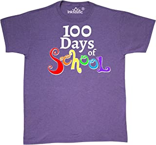 inktastic 100 Days of School- Rainbow Letters T-Shirt