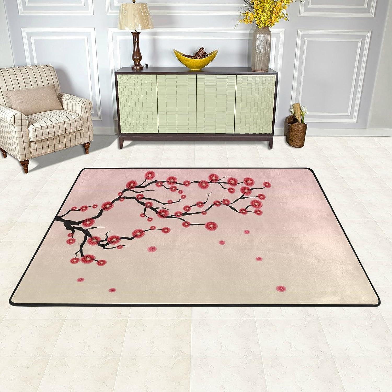 MALPLENA Ancient Artistic Cherry Blossom Rugs for Living Room Doormat Carpet Floor Mats shoes Scraper for Living Room Dining Room Bedroom Kitchen Non Slip