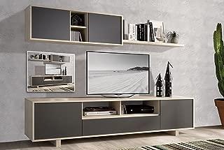 EXCLUSIBE LIQUIDATODO ® - Muebles de Salon Modernos Color Cambrian/Grafito - Nordic