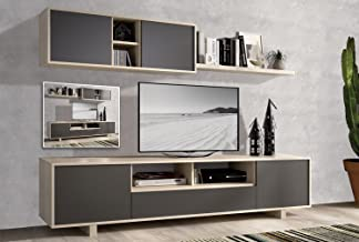 EXCLUSIBE LIQUIDATODO ® - Muebles de Salon Modernos Color Cambrian/Grafito - Nordic