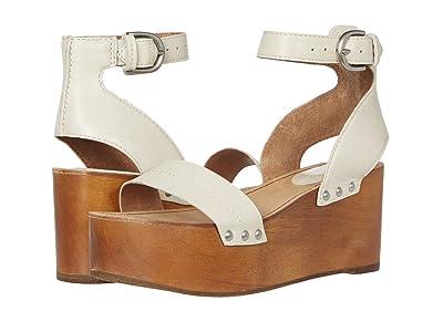 Frye Alva Flatform Sandal (Off-White) Women