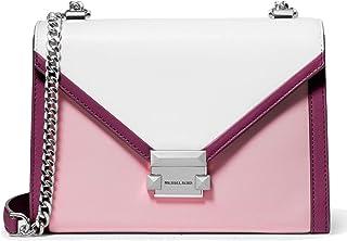 MICHAEL Michael Kors Whitney Large Tri-Color Leather Shoulder Bag, Pale Liliac Multi