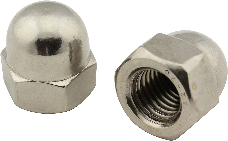 Hutmuttern M3 hohe Form DIN 1587 Edelstahlmuttern 10 St/ück Edelstahl A2 V2A VA Sechskantmuttern Kappenmuttern VB-Schrauben