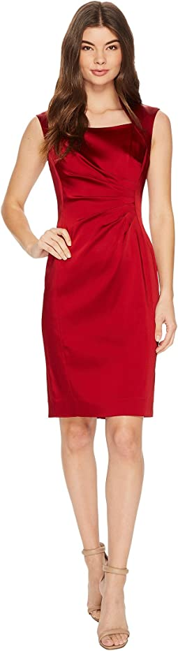 Tahari by ASL - Satin Shirred Sheath