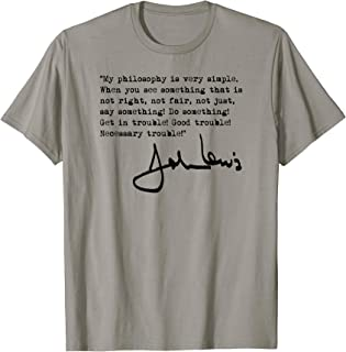 John Lewis - Get in Trouble (black) T-Shirt