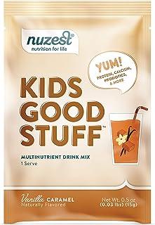 Nuzest Kids Good Stuff - Multivitamin Drink, Vanilla Caramel, 1 Serving, 15g