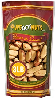 Sponsored Ad - Dry Roasted Salted Brazil Nuts (3 LB) No Oil