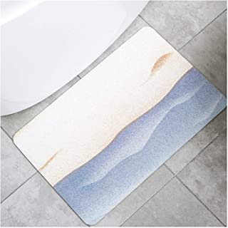Large Diatomaceous Earth Shower Mat Bathroom Bath Floor Tiles Absorbent Soft Foot Pad Fast Drying Non-Slip Machine Washabl...