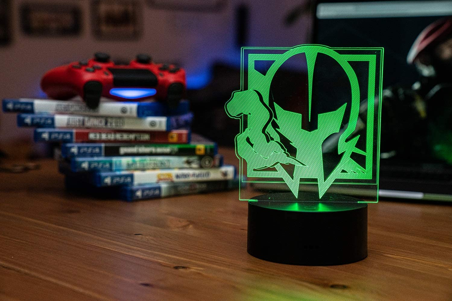 Six Siege LED Lamp - Maestro Operator - Rainbow Six Siege Decor for The Bedroom or Gaming Studio - Color Changing LED Nightlight Great for Cosplay Photoshoots with Any R6 Character