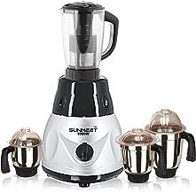 Sunmeet 1000 watts Heavy Duty Mixer Grinder with 4 Jars Color BlackSilver (Chutney Jar, Medium Jar, Large Jar and Juicer J...