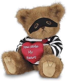 Bearington Lawless Lover Plush Stuffed Animal Teddy Bear with Heart, 10 inches