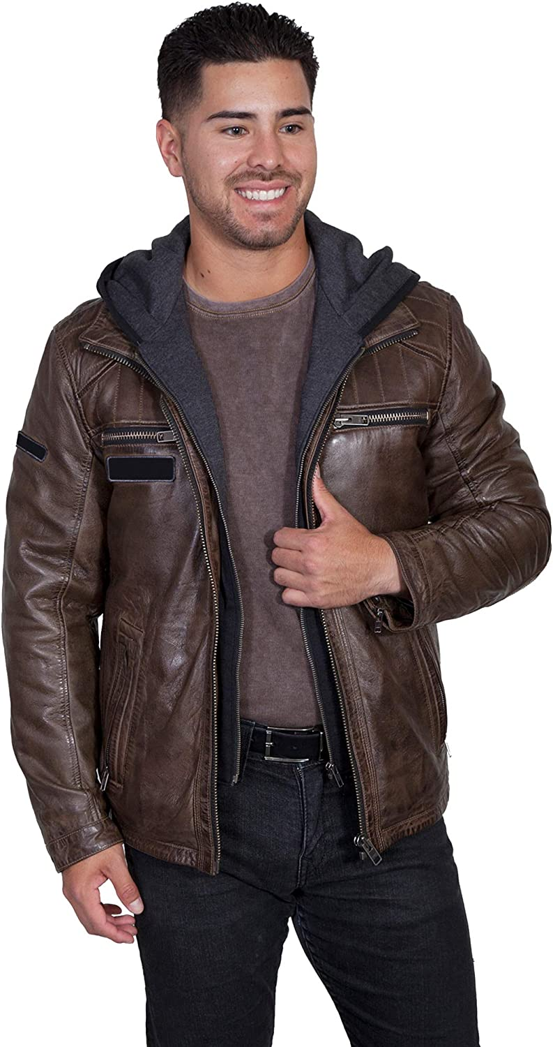 Scully Western Jacket Mens Point Collar Stitching Detail Lined F0_1016