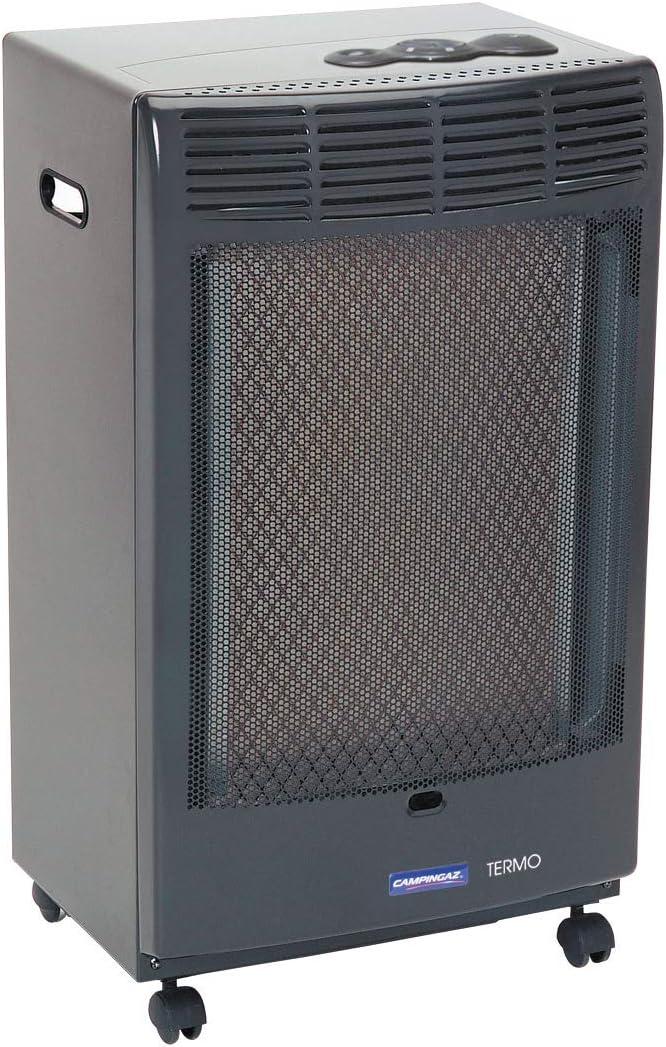 Campingaz CR5000 - Estufa de Gas Thermo Antracita, Estufa Portátil con Ruedas, Estufa Catalitica con Ignición Piezoeléctrica