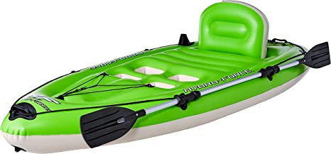 Bestway Hydro-Force Koracle Inflatable Kayak Set, Includes Double-Sided Paddle, Built-In Oar Clasps, Fishing Rod Holders, & Storage Compartments, Convenient & Portable Kayak w/Hand Pump, Model...