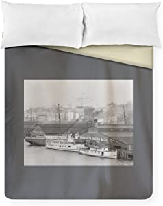 Lantern Press Boats at Galbraith Dock Photograph 1199 (88x88 Queen Microfiber Duvet Cover)