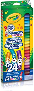 Crayola 58-4324 24 Pip-Squeaks Skinnies Fine Line Washable Markers, School and Craft Supplies, Gift for Boys and Girls, Ki...