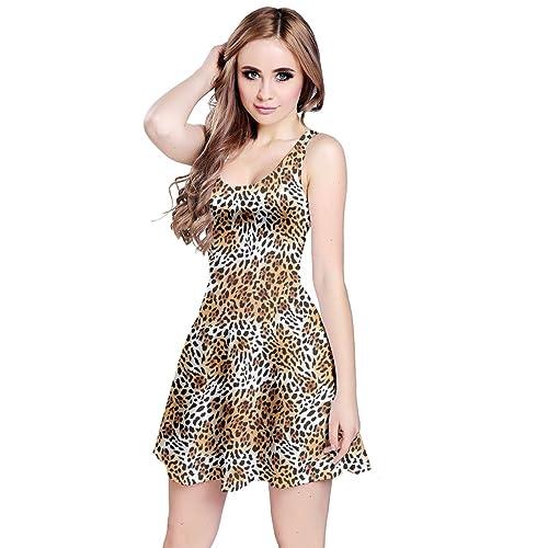 CowCow Womens Python Snake Crocodile Zebra Giraffe Leopard Tiger Leather  Scales Animal Skin Sleeveless Dress 9c7c86dc4