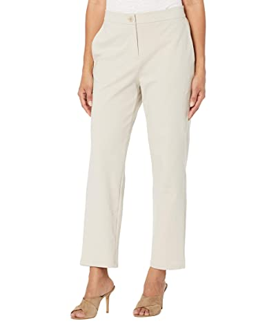Eileen Fisher Organic Cotton Ponte Slouchy Ankle Pants (Chalk) Women