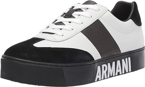 Armani exchange sneaker, scarpe da ginnastica basse donna cow suede lace up XDX035XV167
