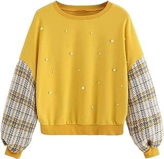 Women's Casual Long Sleeve Crewneck Pullover Sweatshirt