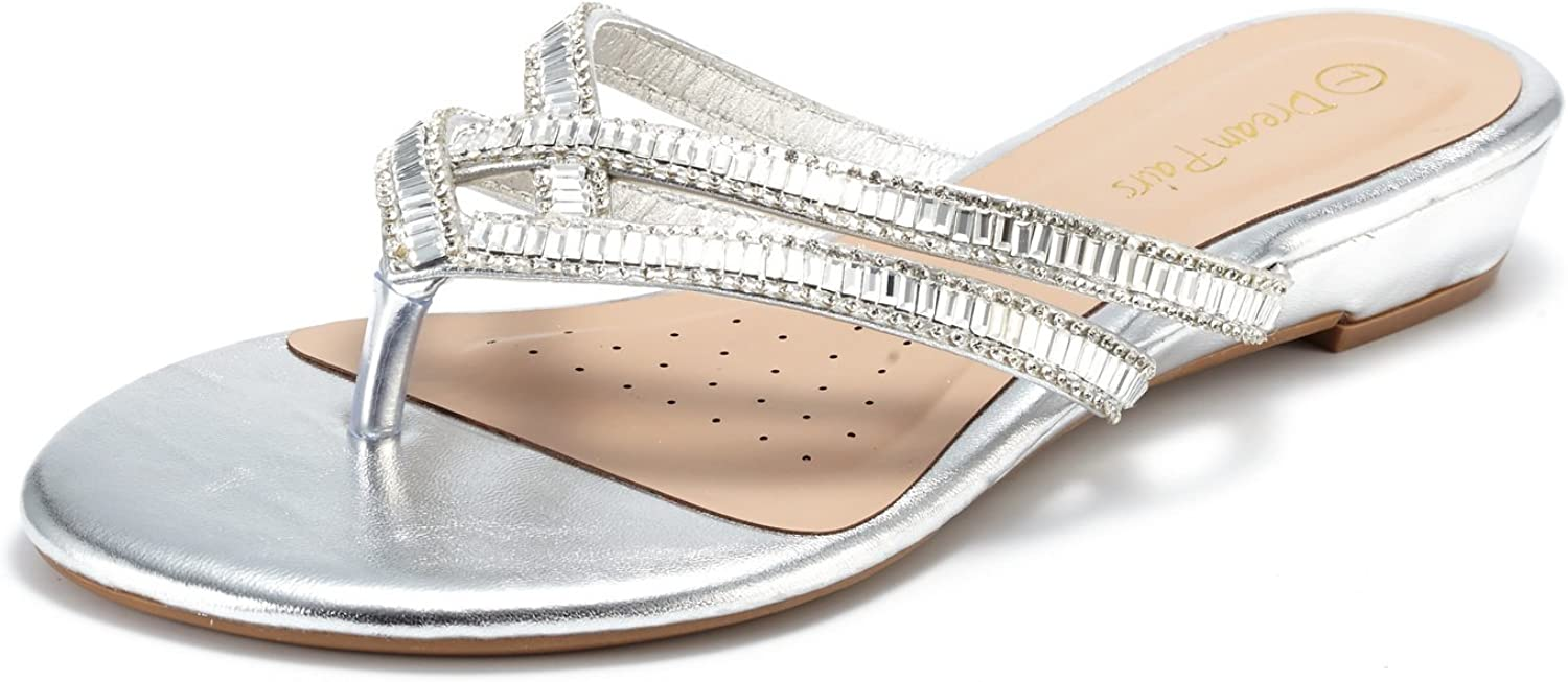 DREAM PAIRS Women's Jewel Sandals At the Limited time for free shipping price of surprise Flip-Flop