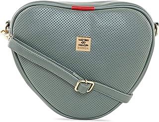 ESBEDA Olive Green Color Heart Shape Sling Bag For Women