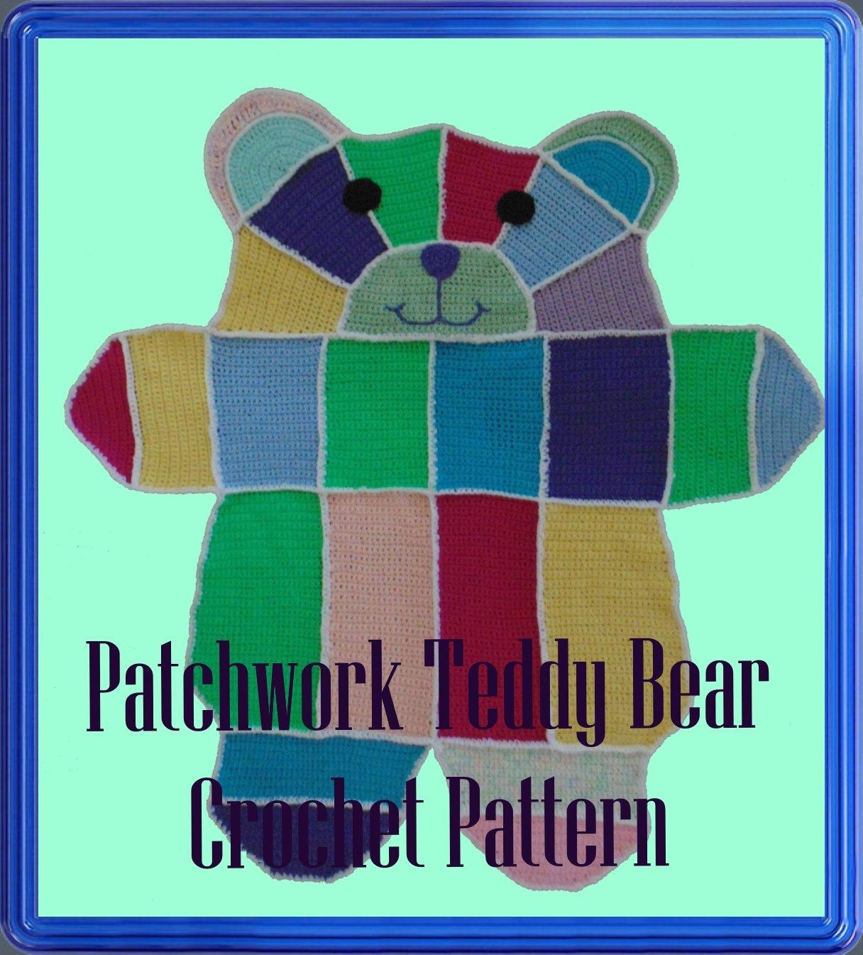 Filet Teddy Bear Blanket | Crochet bear patterns, Baby blanket ... | 1345x1216