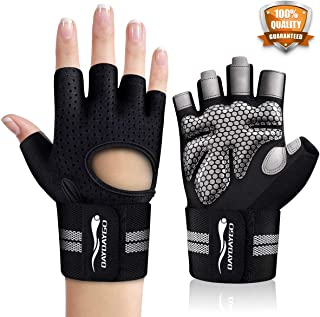 Workout Gloves for Men Women - GYM Gloves Fit Perfectly, Weight-Lifting-Gloves with Wrist Support, Ventilated Padded Weightlifting Gloves for Training Fitness Weight Lifting Gym-Workout Glove