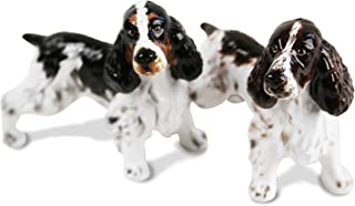 English Springer Spaniel Mini Liver And White Handmade Cruet Set (7cm x 8cm)