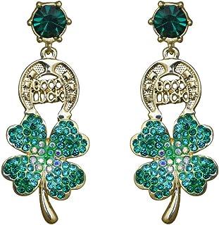 Kirks Folly Good Luck Shamrock Pierced Earrings (Goldtone) Elegant St. Patrick's Day Jewelry